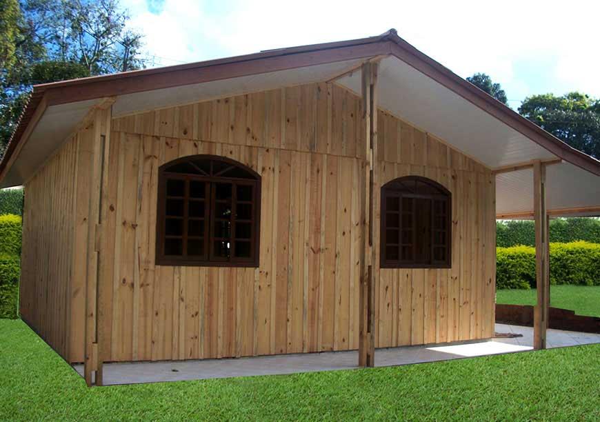 casa de madeira modelo passauna