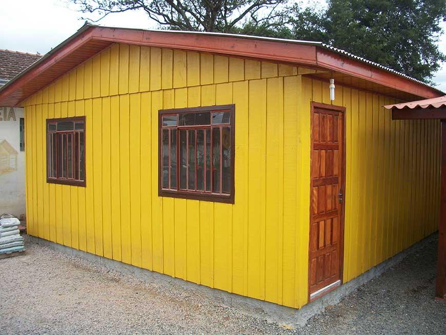 casa de madeira modelo pompeia