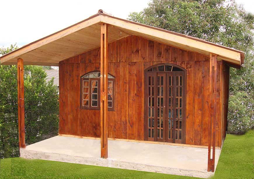 casa de madeira modelo xaxim